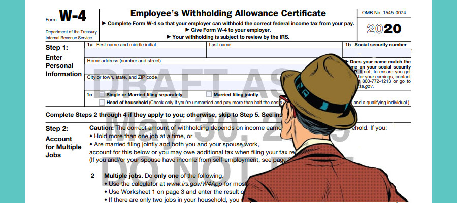 2020 W-4 Withholding Form